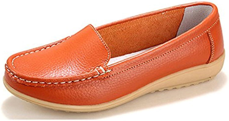 NEWZCERS Zapatos ocasionales del mocasín del cuero de los zapatos de los holgazanes de conducción ocasionales...