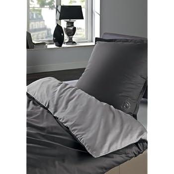 bugatti 4939 800 135x200cm bettw sche set perkal hellgrau grau 200 x 135 x cm. Black Bedroom Furniture Sets. Home Design Ideas