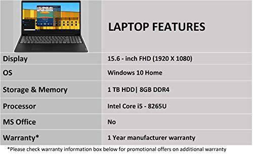 Lenovo Ideapad S145 8th Gen Intel Core I5 15.6 inch FHD Thin and Light Laptop (8 GB RAM/ 1 TB HDD/ Windows 10/ Glossy Black / 1.85 Kg), 81MV0098IN Image 5