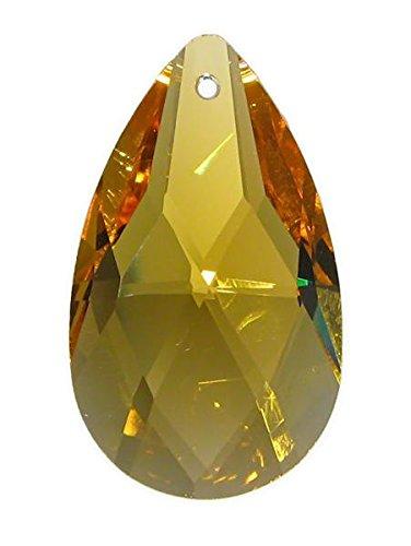 Cristal topaze de style salzbourgeois (amande) qualité k9, hauteur 38mm