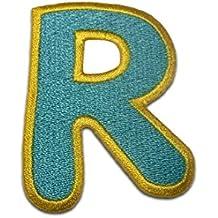 Parche Termoadhesivos Alfabeto/Letra azul, Alphabet/Buchstabe:Buchstabe R - 6.2x4