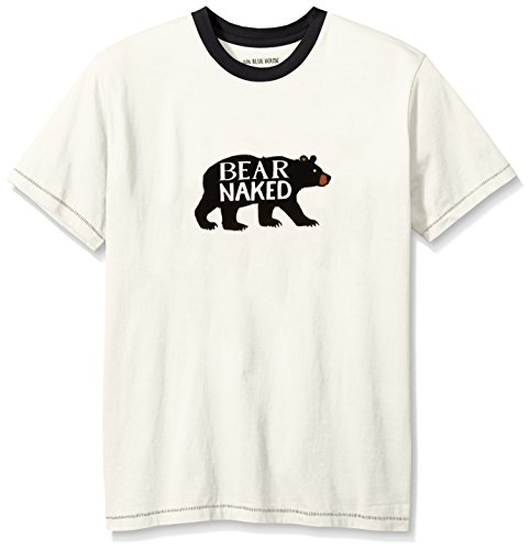 Hatley Short Sleeve Tee, Haut de Pyjama Homme, Off/White (Bear On Natural), XXL