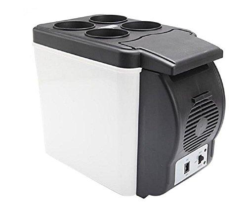 wenrit Refrigerador portátil para el automóvil Refrigerador portátil Refrigerador eléctrico Refrigerador portátil para el Viaje 12v 6L