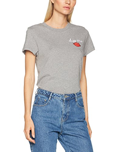 Hilfiger denim, t-shirt donna, grigio (mid grey htr 097), medium