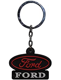 GCT Ford Logo Rubber Keychain | Keyring | Key Chain For Car Bike Home Office Keys | For Men Women Boys Girls |...