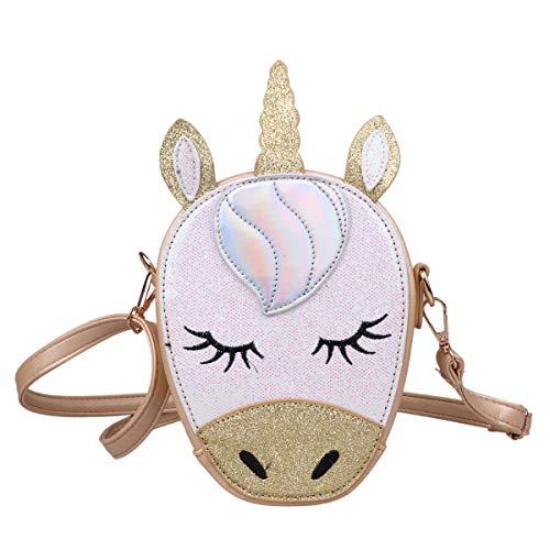 fd06d561c7 FEESHOW Cartable gamin déguisement licorne enfant Dot Etanche en Nylon Sac  à Dos sac école Scolaire