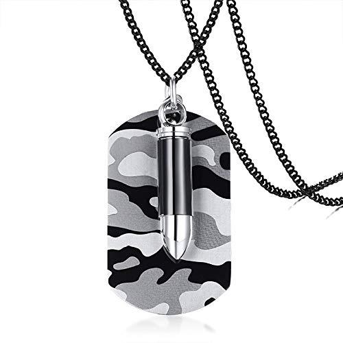 Armee Commando Kostüm - Halsketten für Herren Männer Edelstahl Camouflage