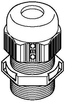 Preisvergleich Produktbild BETTERMANN Kabelverschraubung V-TEC, M50x1.5mm, lgr V-