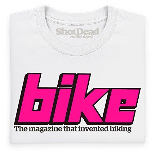 Official Bike Magazine Late 70s Logo T-Shirt, Herren Wei