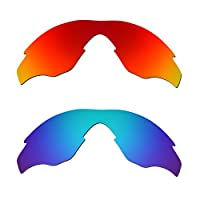 Hkuco Mens Replacement Lenses For Oakley M2 Sunglasses Red/Blue Polarized