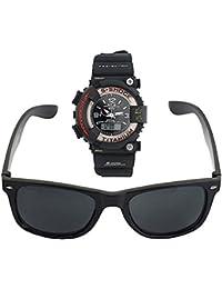 Look Digital Plus Analogue Sports Watch + Wayfarer Black For Men & Boys (Combo Offer) .(FREE SUNGLASS BOX)