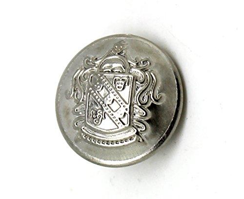 Platinfarbene Knöpfe mit Wappen DIY (15mm 10 Stück) - Wappen-knöpfe