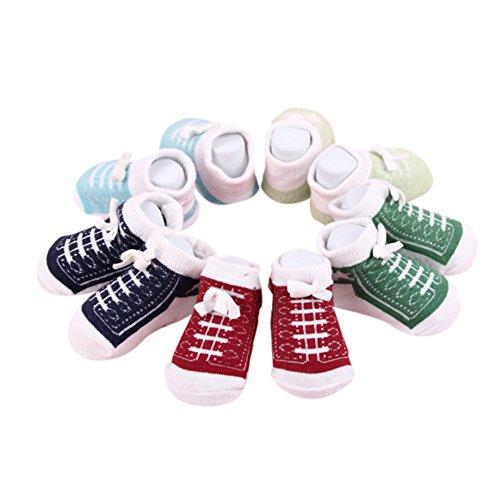 Calcetines lindos del tobillo del bebé recién nacido para 0-6 meses Calcetines unisex del algodón...