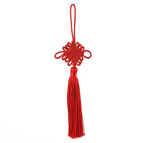 sourcingmap® Haushalt LKW Polyester Flechten Quaste Detail Stricken chinesischen Knoten rot de (Lkw-details)