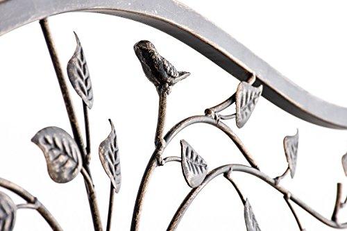 CLP Gartenbank ABIONA im Landhausstil, Eisen lackiert (Metall) ca 110 x 50 cm Bronze - 6