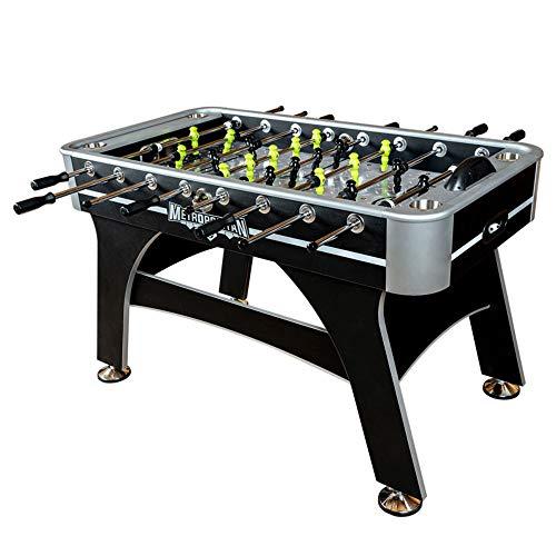 Devessport - Futbolín Metropolitan ideal para jugar con amigos - Gran tamaño - Profesional - Barras de metal - Mango de plástico - Con posavasos - Dispone de marcadores - Medidas: 143.5 x 76.2 x 86 Cm