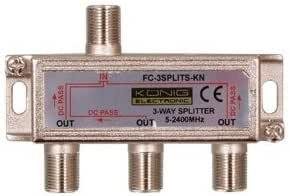 GadgetCenter–Distributore d'antenna satellitare a 3vie