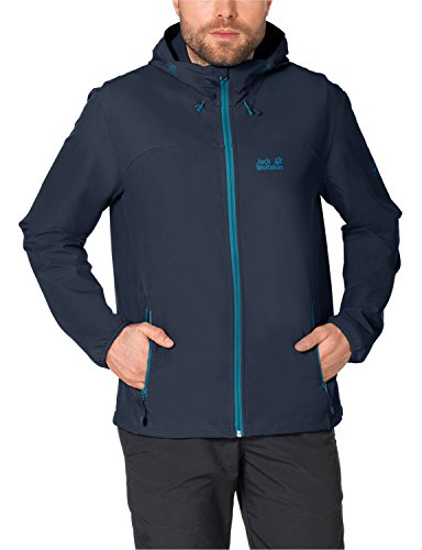 Jack Wolfskin Herren Softshelljacke Turbulence, night blue, XXL, 1303661-1010006