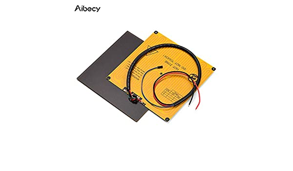 220mm Ultrabase Platform Glass Plate Build Surface Ajorhkdls Aibecy 220 Aluminum Heated Bed Hotbed 12V with Wire Cable for Anet A8 A6 for ANYCUBIC I3 Mega for Tronxy P802M P802E 3D Printer