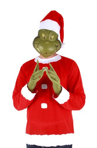 Dr. Seuss Christmas Grinch Costume Adult (Kinder Grinch Kostüme)