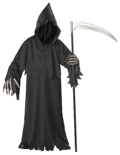 Kostüm Cartoon Or Treat Trick - Grim Reaper Deluxe Costume Child Tween 12-14