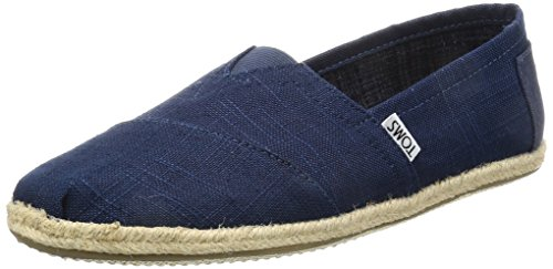 TOMS Men's Linen Rope Sole Alpargata Esp Espadrilles, Blue (Navy), 9 UK...