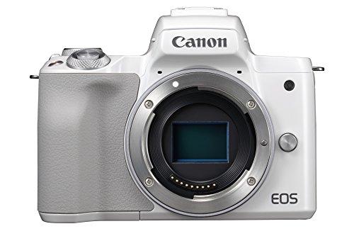 Canon EOS M50 spiegellose Systemkamera (24,1 MP, dreh-und schwenkbares 7,5cm (3 Zoll) Touchscreen-LCD, Digic 8, 4K Video, OLED EVF,WLAN, bluetooth) Gehäuse weiß
