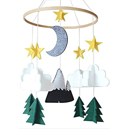 Motto.H Mobile Krippe, Baby Krippe Mobile Spielzeug, Sternenhimmel/Flugzeug und Cloud Kinderzimmer Dekoration Krippe Mobile Arm, Krippe Mobile für Jungen und Mädchen