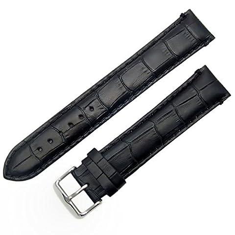 Super-Long XXL Padded Croc Grain Genuine Leather Watch Strap band
