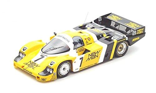 SPARK-Porsche-956New Winner Le Mans 1985Coche de ferrocarril de Collection, 18lm85, Amarillo/Blanco/Negro