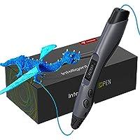 TECBOSS Pluma de Impresión 3D, Pluma 3D con Pantalla LCD, 8 Velocidades Ajustables Lápiz 3D Compatibles PLA e ABS Filamentos, Cumpleaños y Navidad para Niños y Adultos