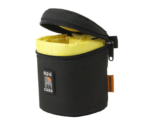 ape-case-aclc8-zippered-adjustable-or-attachable-compact-case-for-lenses-black-yellow