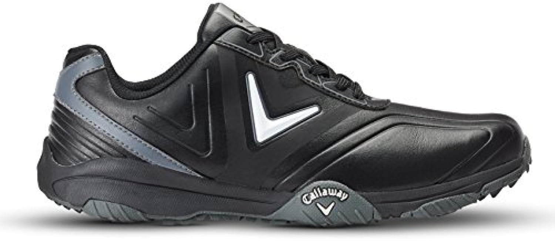 Callaway Chev Comfort Zapatillas de Golf, Hombre, Negro (Black/Plata), 39 EU