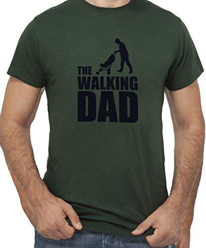 T-shirt the walking dad dead - by new indastria - uomo-m - verde foresta