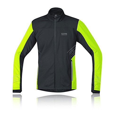 Gore Running Mythos Gore Windstopper Jacket Black Neon Yellow M
