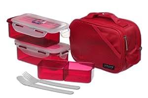 Lock & Lock Lunchbox Set 510ml*2 mit Essstäbchen, HPL762DR