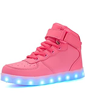 Maniamixx LED High-top Carga Zapatillas infantil luminoso casual sneaker para Niños Niñas