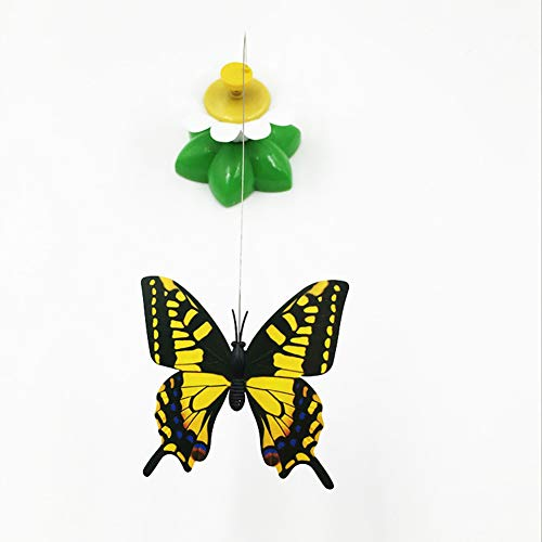 Funny Cat Electric Rotating Butterfly Teaser Interactive Toy Play Catch Tease Wire Toys für Pet Cat Kitten,Black