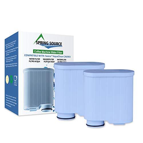 Spring Source CMF009 Wasserfilter für Kaffeemaschine, Ersatz für Saeco AquaClean CA6903, 2 Stück
