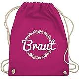 JGA Junggesellinnenabschied - Braut Blumenkranz - Unisize - Fuchsia - WM110 - Turnbeutel & Gym Bag