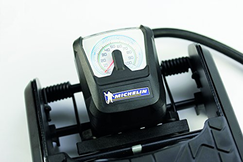 Michelin 92419 Pompe à pied, 2 cylindres avec manomètre