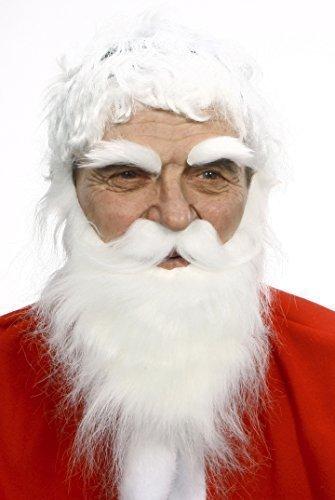 Böser Nikolaus fälschen, selbstklebend Bart, Schnurrbart und Augenbrauen