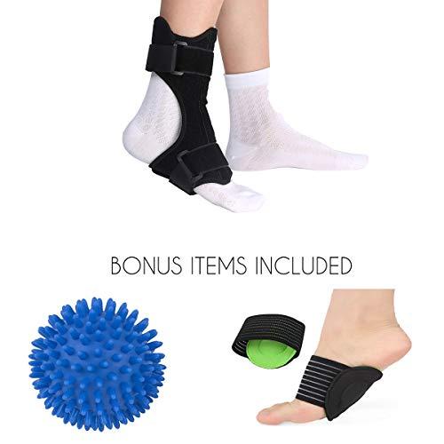 db62580dbfe97e Limber Stretch Attelle plantaire Fasciitis Dorsal Night Splint  Brace-Soulagement de la douleur au talon
