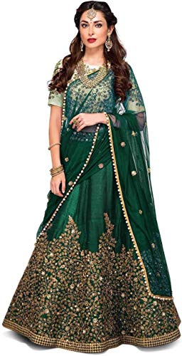 Crawler Creation Women\'s best Wedding Wear Taffeta Silk Lahenga Choli New collection 2018