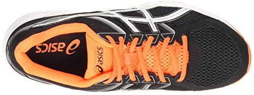 Asics Gel-Contend 3, Chaussures de Running Compétition Homme Noir (black/silver/hot orange 9093)