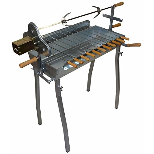 EPOS Barbecue - Holzkohle Spießgrill 70 x 31 cm + Grillmotor GT7