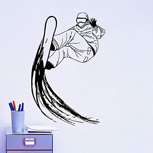 Cool Snowboarder Woth Snowboard Stickers murali Adesivo da parete in vinile Extreme Sport Series Home Creative Decor Wallpaper di qualità Wm 71x48cm