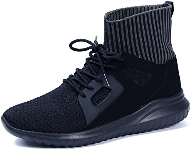 AgeeMi Shoes Herren Rund Schließen Zehe Sneaker Freizeit Schnürer Turnschuhe