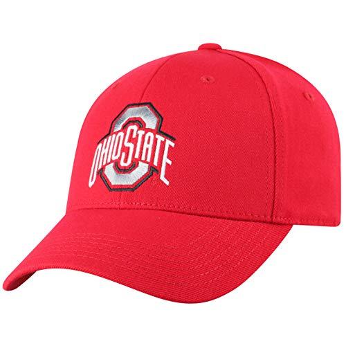 Top of the World NCAA Ohio State Buckeyes Men's Premium Memory Foam Logo Hat, Red