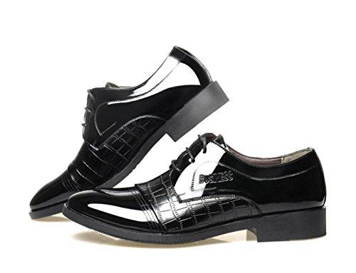 HYLM I pattini casuali di affari del merletto di cucono appuntano scarpe nuziali / Oxford Black